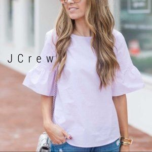 J CREW Pink Bell Sleeve Cotton Top Size 4
